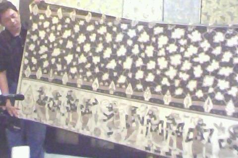 bentang kain batik wayang